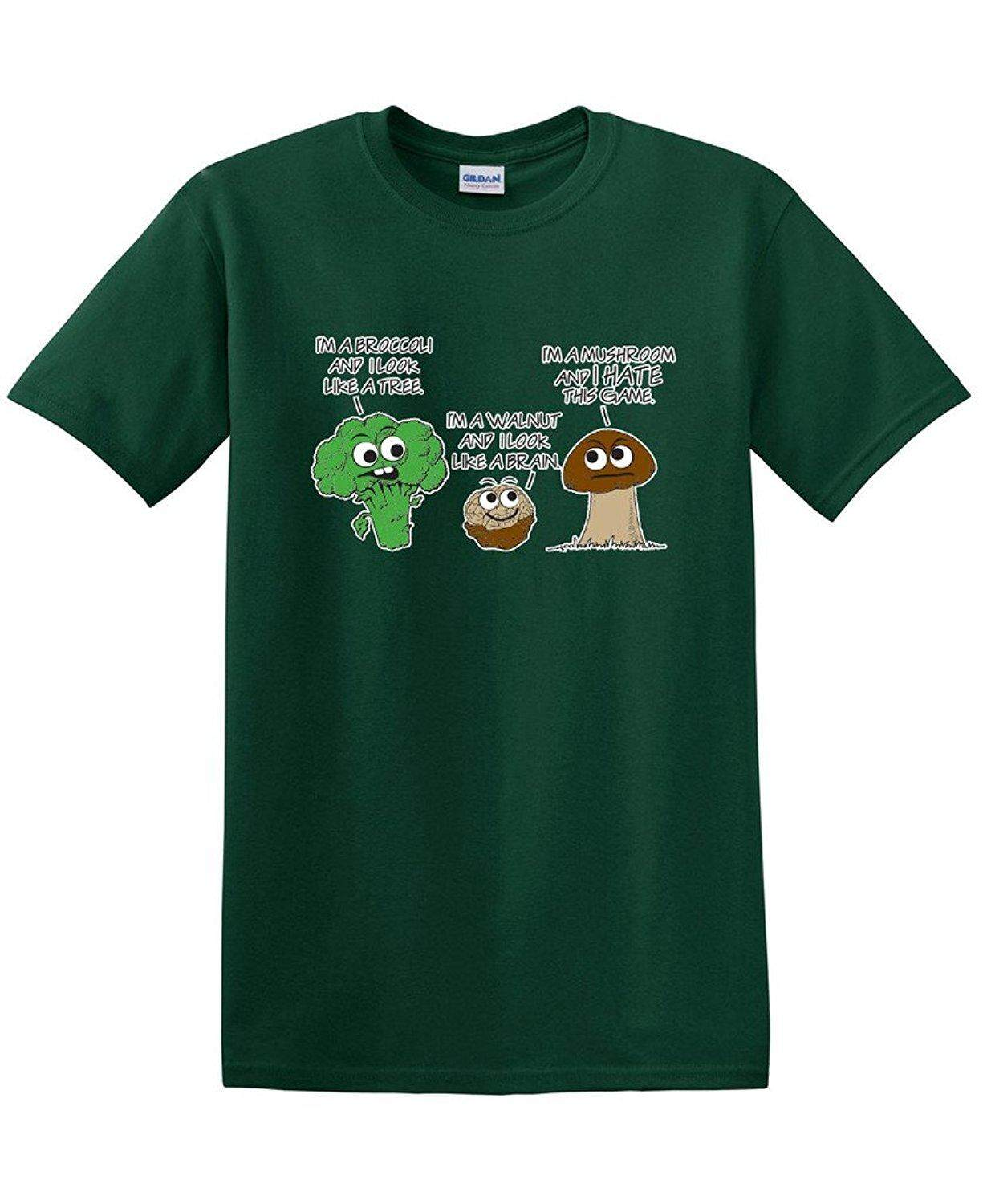 Vegetable Comparison Game Adult Humor Graphic Tee Cool Very Funny T Shirt - intl