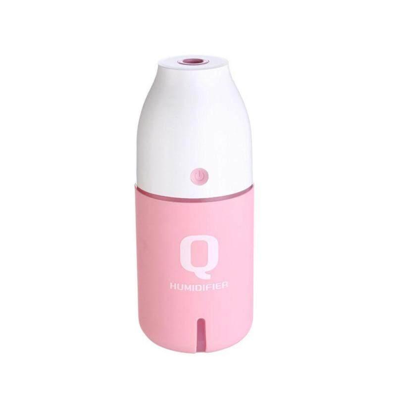 leegoal Q Bottle USB Mini Humidifier Home Gift Small Car Humidifier Creative Makaren Color Night Light Humidifier(Pink) Singapore