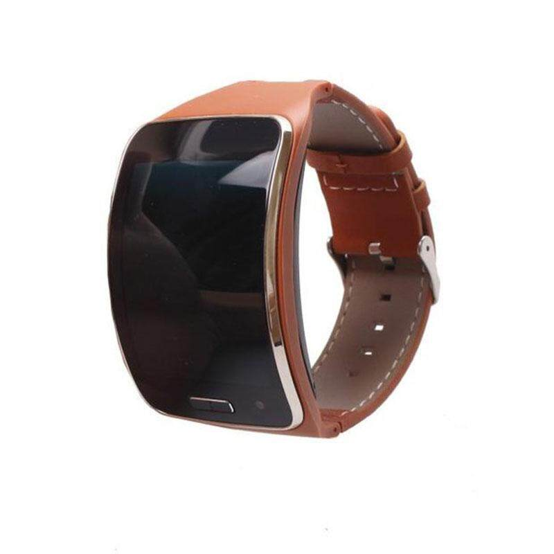 Discounted Leather Watch Wrist Band Strap Bracelet For Samsung Gear S R750 Smart Watch Intl