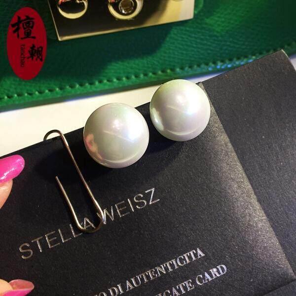 Tan Korea Retro Telinga Perhiasan Eropa dan Amerika Serikat Terbaru Temperamen Liar Bor Rumbai anting-Anting Wanita Modis Tanpa Telinga Piercings Seri Ini Tidak Pierce Telinga Klip (No. 2 Roti Mutiara Model) -Internasional