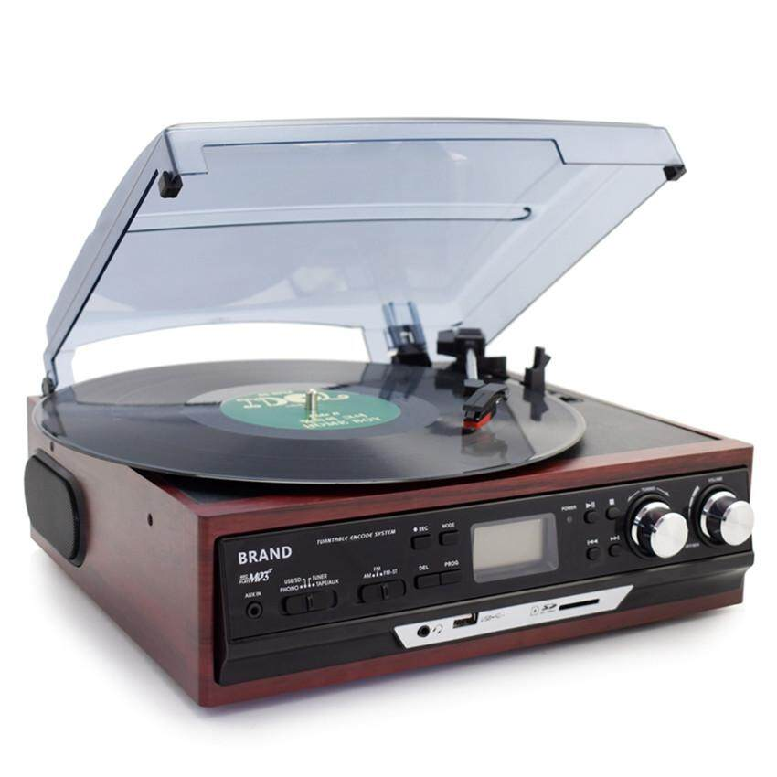 Multi-functions 3 Speed Stereo Phono Players Turntable Vinyl LP Record Player With AM/