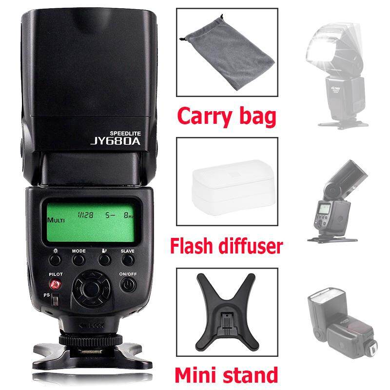 VILTROX JY-680A Nirkabel Master Slave Universal Lampu Flash Speedlight untuk Pentax Nikon D5200 D7000 D7200 D800 D700 D90 Canon EOS 650D 500D 30D Panasonic DSLR