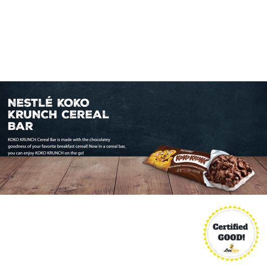 Nestle Koko Krunch Whole Grain Wheat Cereal Bar 25gx6