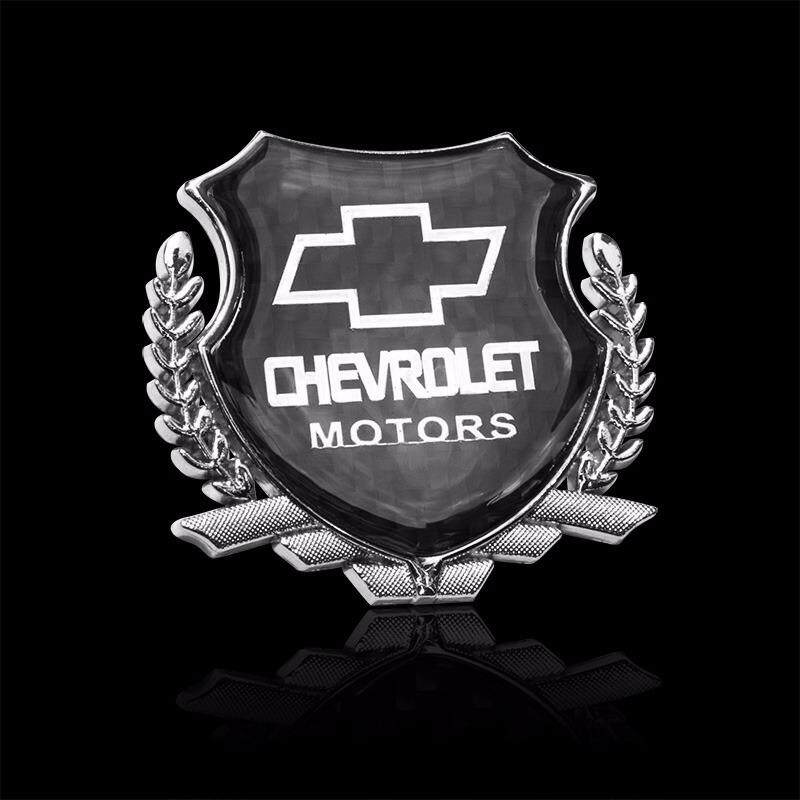 Car Styling Decoration Accessories 3D Metal Carbon Fiber Sticker with Chevrolet Logo Auto Decal Emblem Badge for Chevrolet cruze aveo trax captiva lacetti spark sonic Orlando epica - intl