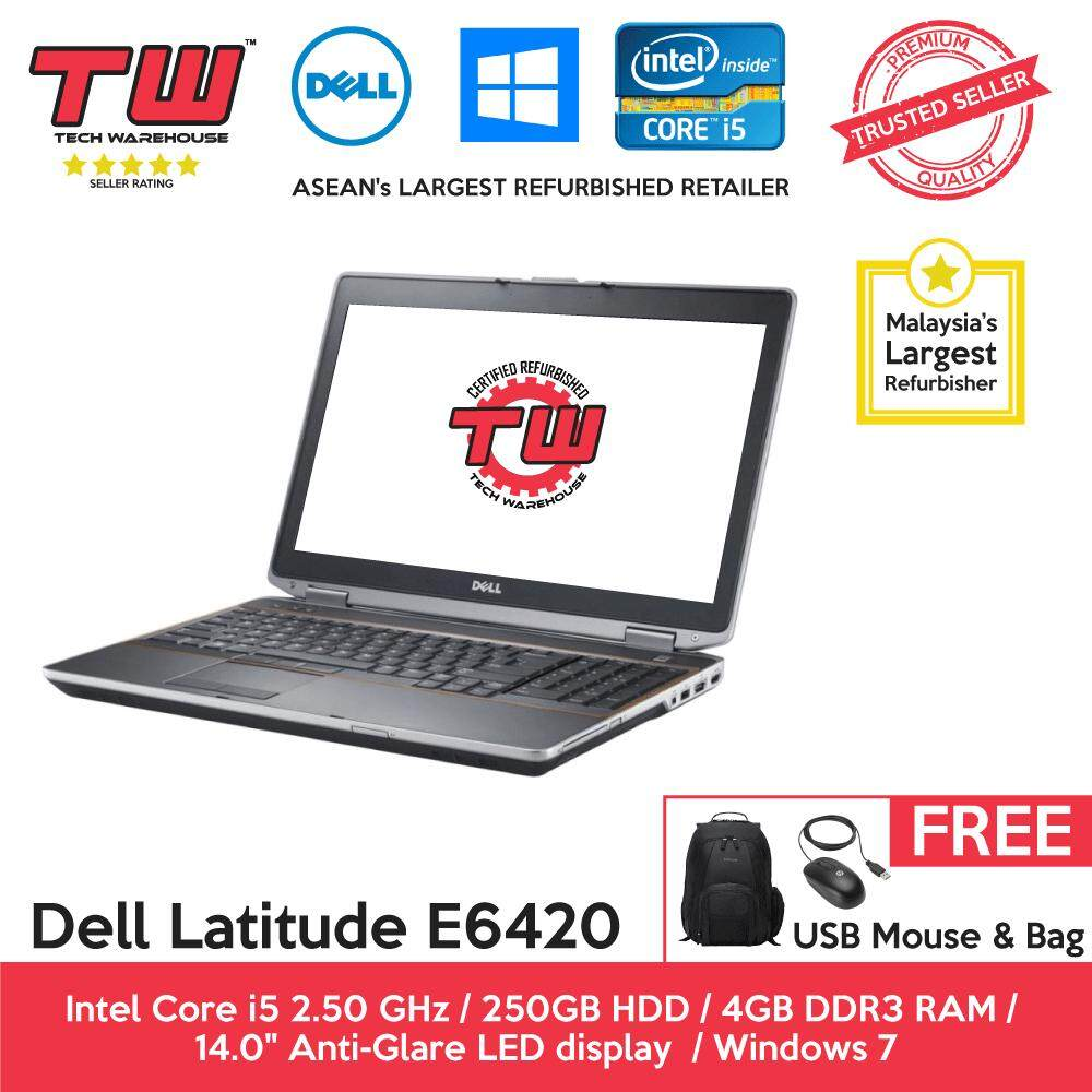 Dell Latitude E6420 Core i5 / 4GB RAM / 250GB HDD / Windows 7 Laptop / 3 Month Warranty (Factory Refurbished) Malaysia