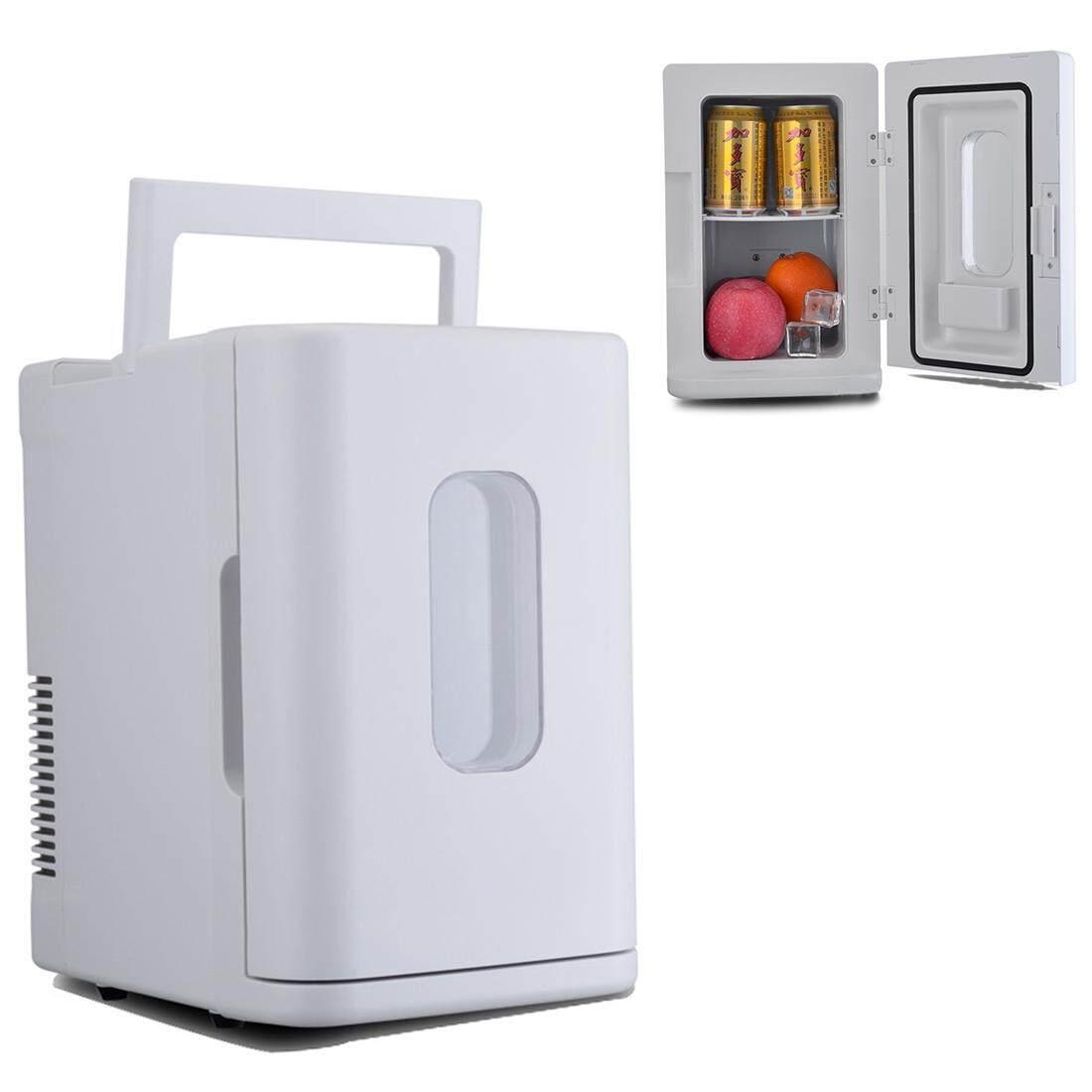 Vehicle Otomatis 68 W Maksimum Portabel Mini Cooler dan Lebih Hangat 10L Kulkas untuk Mobil dan Rumah, Tegangan: DC 12 V/AC 220 V (Putih)-Internasional