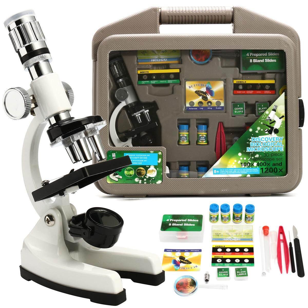 Zoom Microscope Kit Lab 400X-600X-1200X Magnification Beginner For Kids Students - Intl Đang Khuyến Mại Khủng