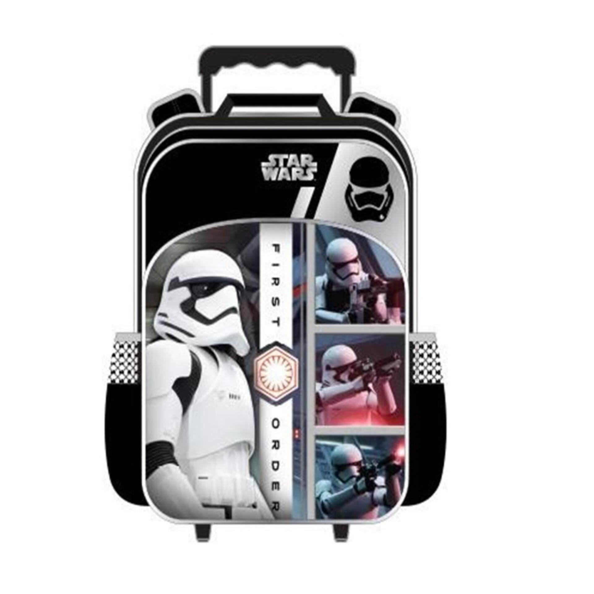 Disney Star Wars Pre School Kindergarten Nursery Kids Children School Trolley Bag - Stormtrooper