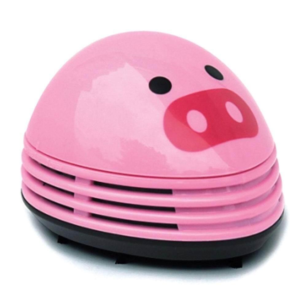 qooyonq Electric Desktop Vacuum Cleaner Mini Dust Cleaner Pink Pig Prints Design - intl