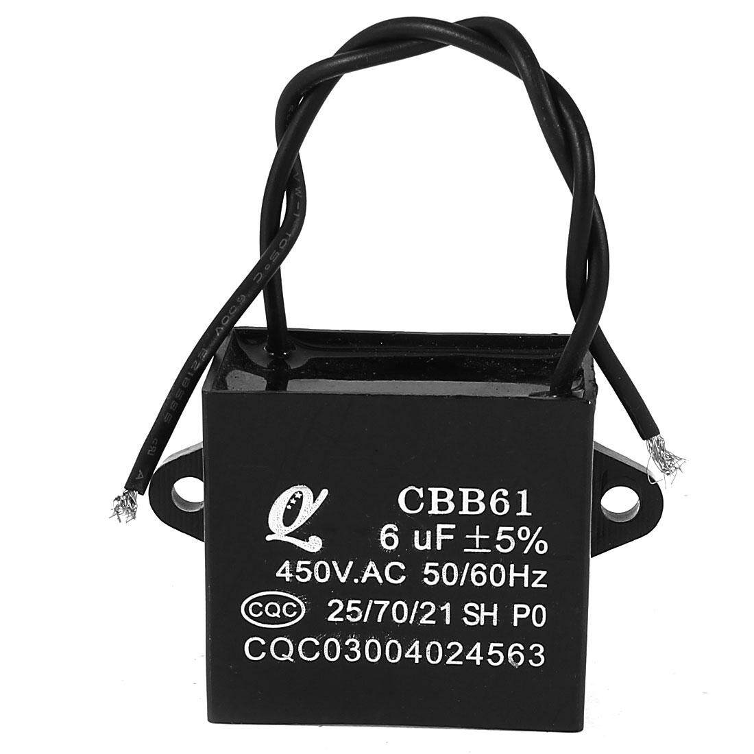 Buy Sell Cheapest Axa 450v Ac Best Quality Product Deals How To Wire 2wired Capacitor With Motor Of A Fan 6uf 2 Wired Metalized Polypropylene Film Black