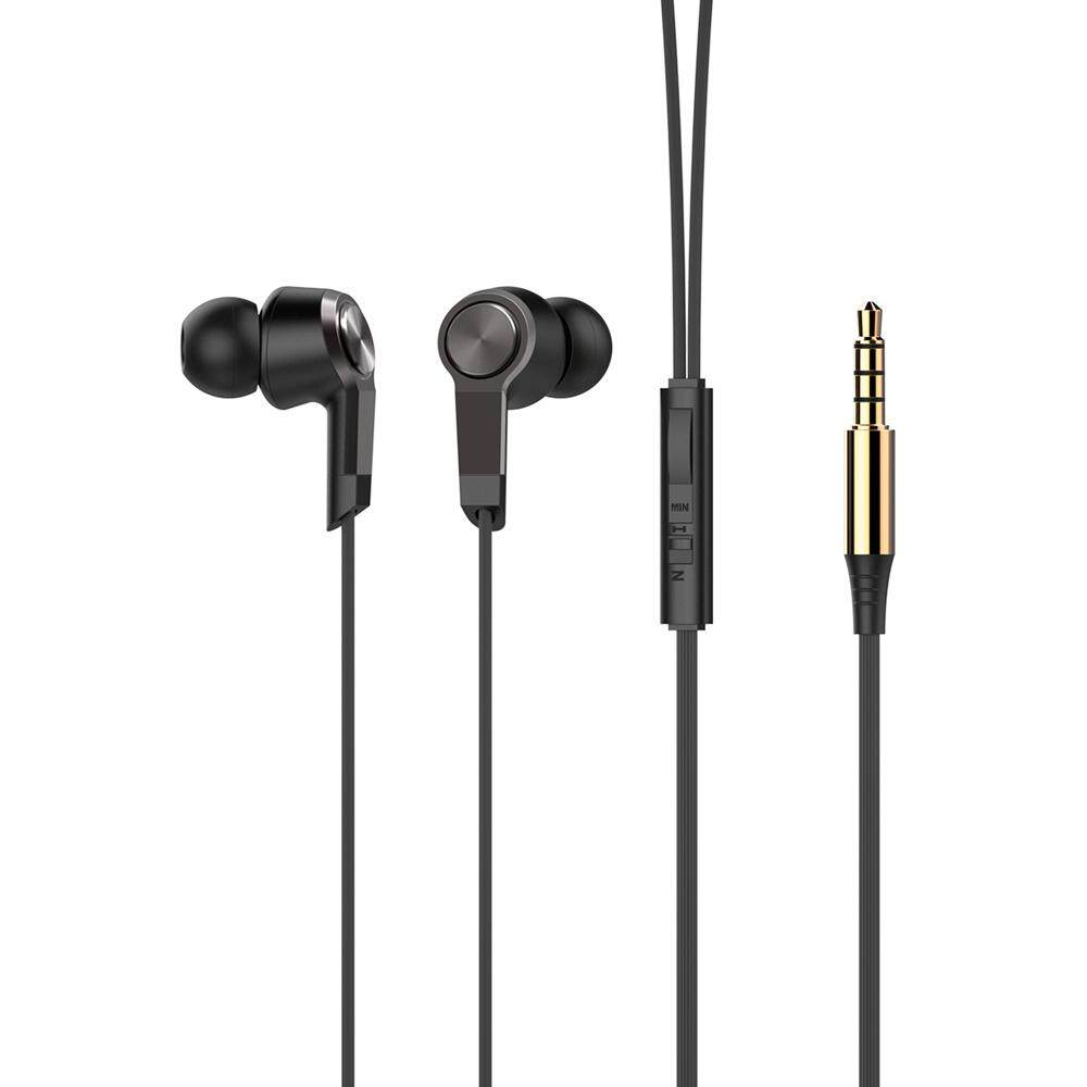 Vorson Dalam-Telinga Earphone 3.5 Mm Steker Volume Pengendali Tangan-Bebas Panggilan Berkabel Headset untuk Ponsel Pintar-Internasional