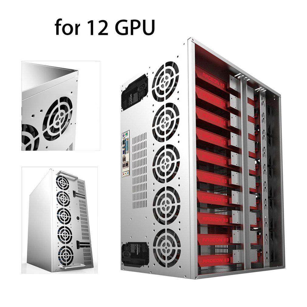Buy Sell Cheapest Crypto Force Best Quality Product Deals 600 Coin Open Air Mining Frame Rig Graphic Case For 6 12 Gpu Btc Ethereum