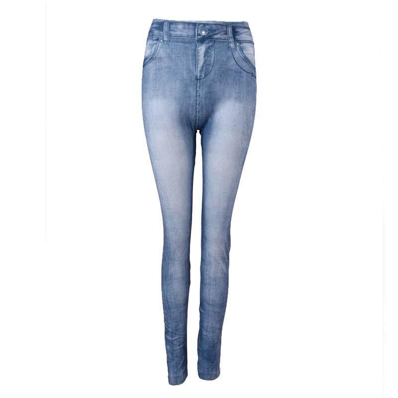 Hot sale Women Denim Jeans Skinny Leggings Stretch Pants Blue - Intl