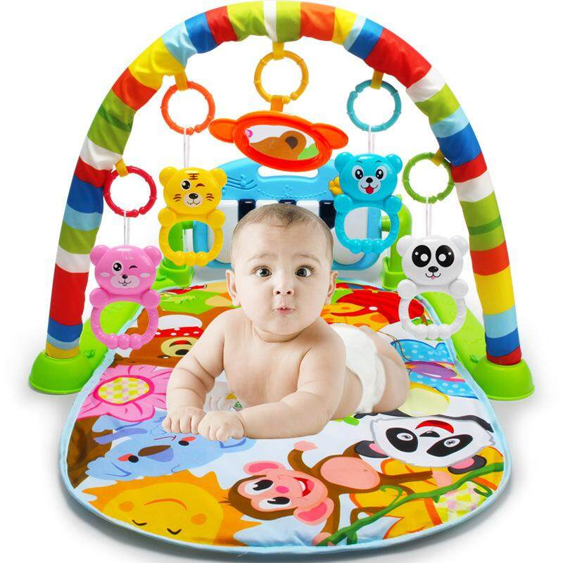 Wholesale New Multifunction Soft Baby Play Mat Activity Piano Pedal Fitness Frame Music Bed Bell Pay Gym Toy Floor Crawl Blanket Carpet Intl