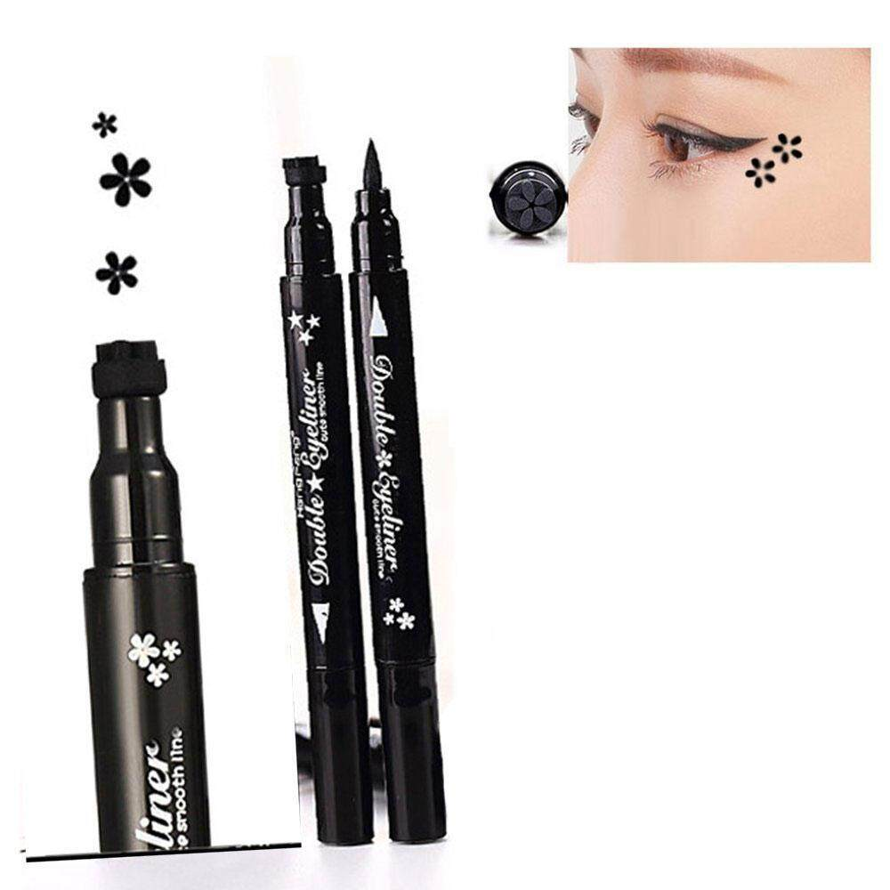leegoal Eyeliner Pencil Pen With Eye Makeup Stamp,Waterproof Double Sided Long Lasting Seal Eyeliner Cosmetics Tool(Flower) - intl Philippines