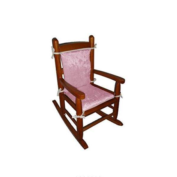 Baby Doll Bedding Crocodile Junior Rocking Chair Pad, Pink - intl
