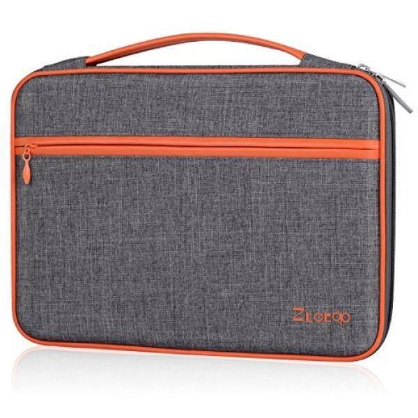 Ztotop 11-11.6-12 Inch Sarung Laptop, pelindung Wadah Penyimpanan Tahan Air Tas untuk Baru 12 Macbook Ipad Tablet Acer Asus Dell Lenovo Samsung HP Chromebook 12.3 Permukaan Pro-Abu-abu Tua-Intl