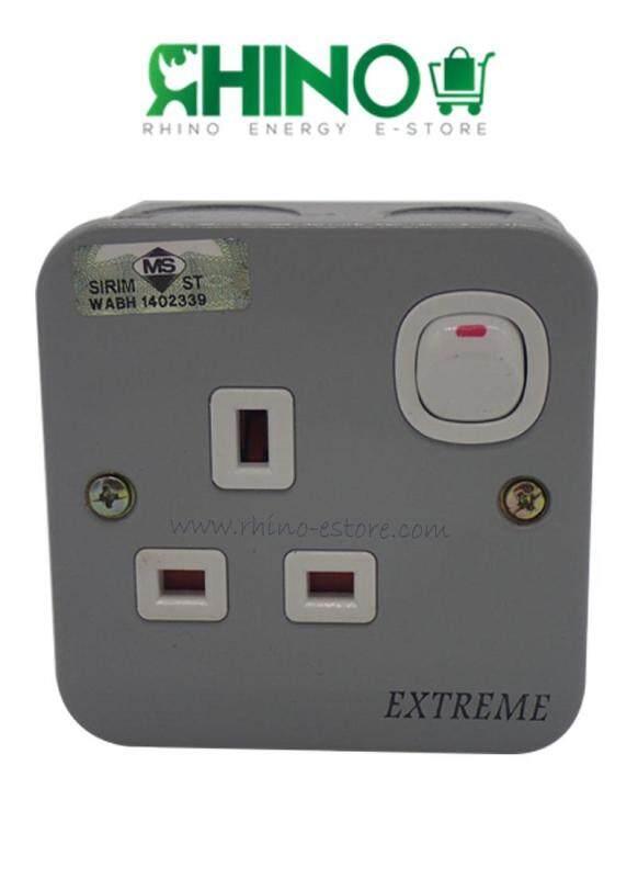 Exterme 1 gang metal clad switch socket outlet