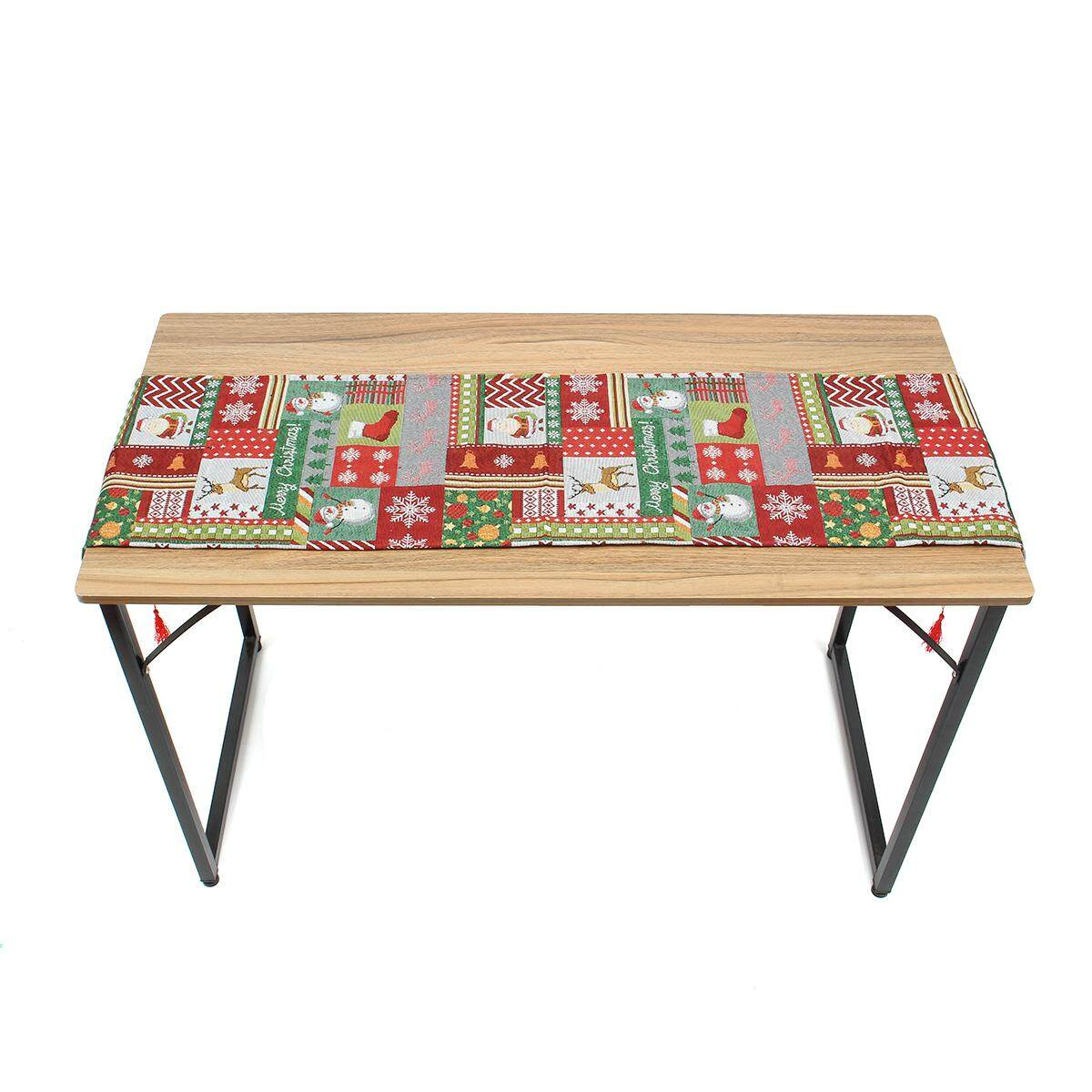 Christmas Table Runner Placemat Xmas Party Home Desk Decor Tablecloth Cover # Table Runner