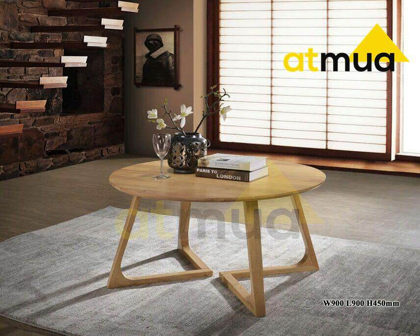 Atmua Anad 90cm Condo Round Coffee Table Scandinavian Style