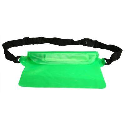 Waterproof PVC Waist Bag Pouch with Adjustable Belt (GREEN)