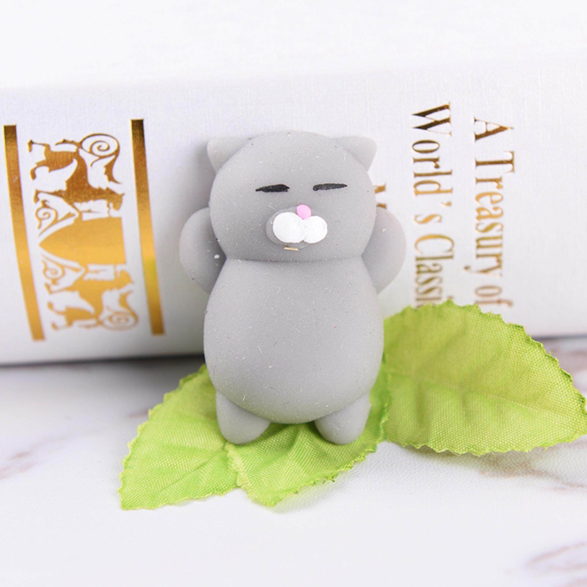 Buy Sell Cheapest Kawaii Expression Bun Best Quality Product Deals Squishy Kucing Cute Cat Ball Soft Bread Cell Phone Straps Key Chains Grey