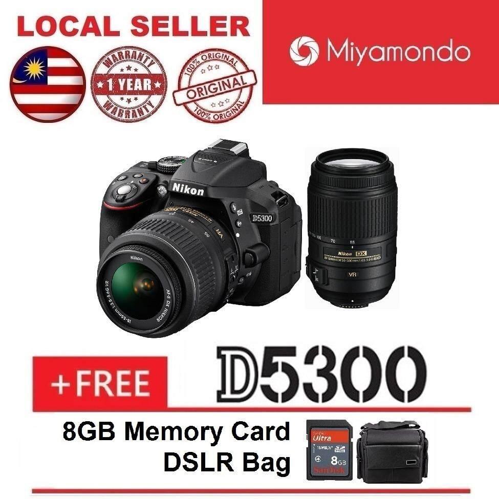 Cek Harga Nikon D5600 With 18 55mm Lens 8gb Bag Terbaru Kit Vr D5300 Ii 55 300mm Twin