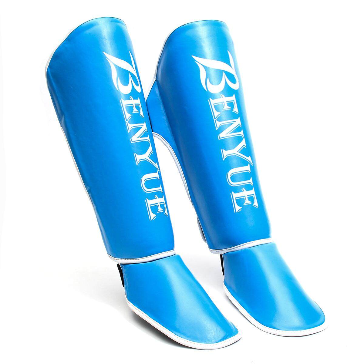 Hình ảnh 1 Pair Of Instep Foot Boxing Pads [Blue WhiteM] - intl