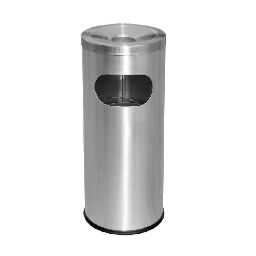 Rivershop RAB-002/A Multi-Purpose Stainless Steel Garbage Litter Bin WasteBin Dustbin C/W Ashtray Top for Restaurant / Office/ Commercial Tong Sampah Serbaguna