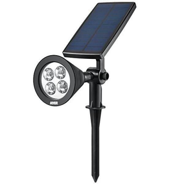 AMIR Upgraded 2 in 1 Solar Lights, 360° Adjustable Waterproof Outdoor Landscape Lighting Spotlight Wall Light Auto On/ Off for Yard Garden Driveway Pathway Pool Tree Patio