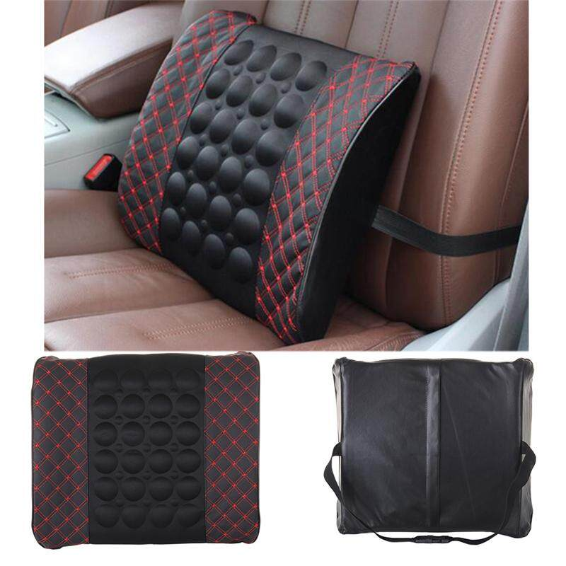 New Car Lumbar Support Pillow 12V Electric Massage Seat Back Relaxation Waist