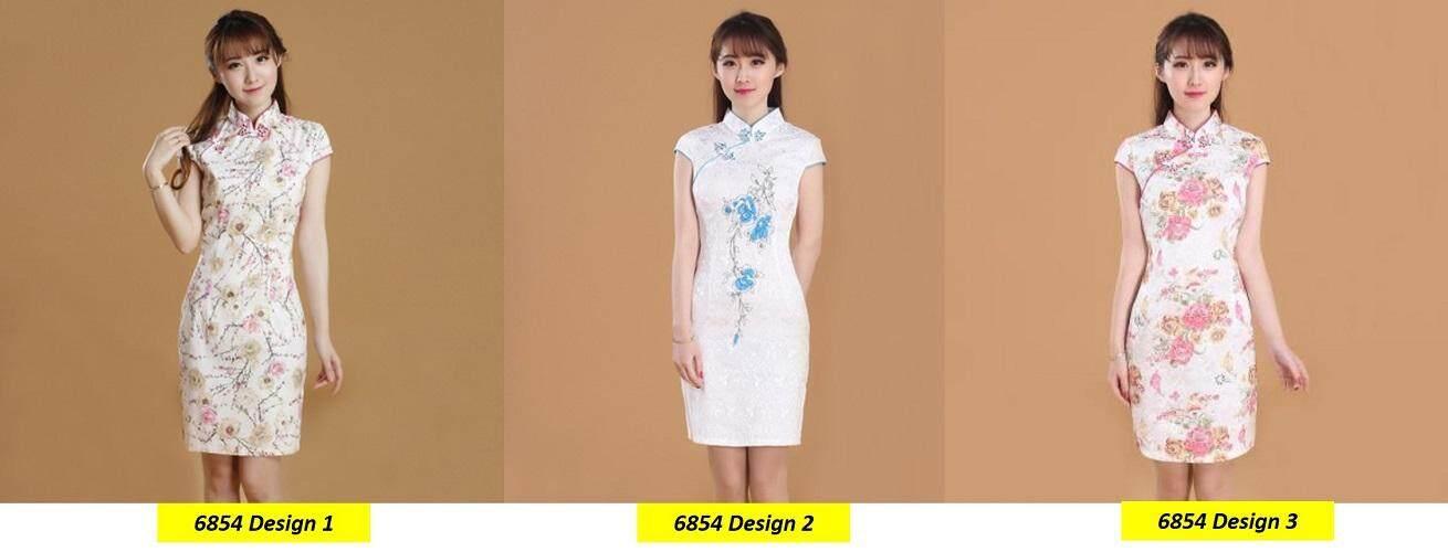 (Pre Order 14 DAYS)  JYS Fashion Women Cheongsam Collection 249-6854 Design 3 (White) L