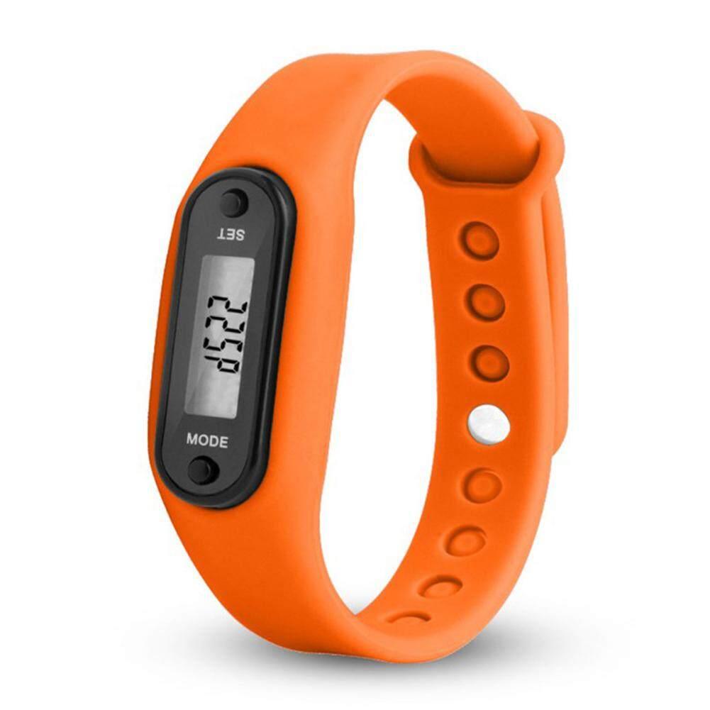 Dsstyles Luar Ruangan Uniseks Alat Pengukur Langkah Tahan Air Pintar Bergerak Gelang Remaja Versi Lari Berjalan Gaya: Versi Remaja Oranye-Internasional
