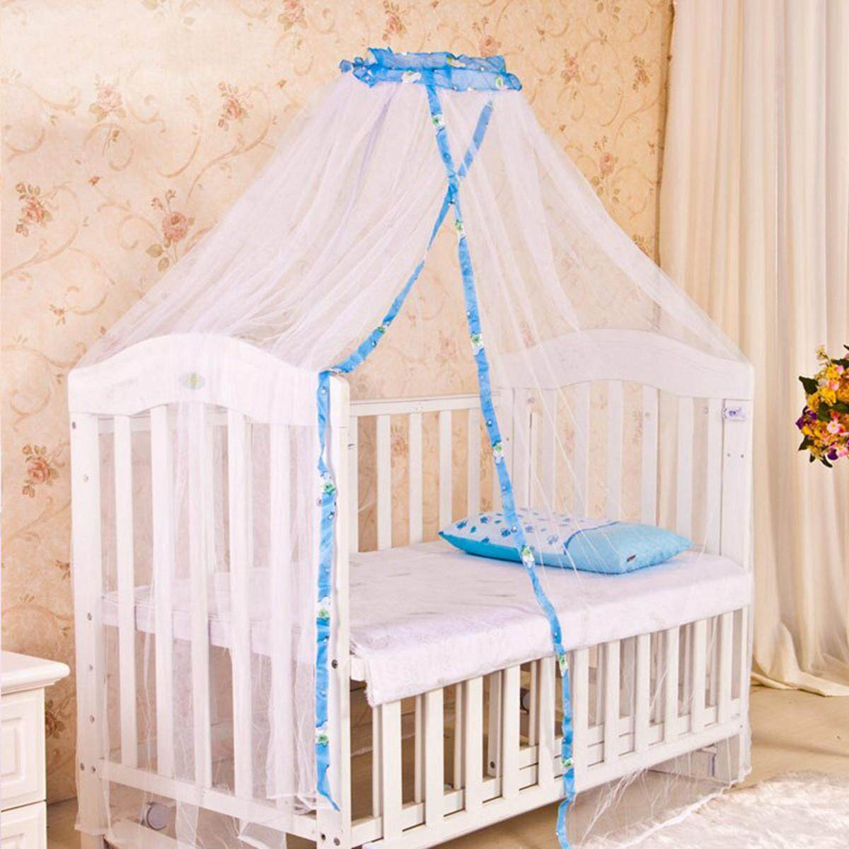 Baby Infant Nursery Mosquito Bedding Crib Canopy Net Hanging Babe Dome Summer Blue By Glimmer.