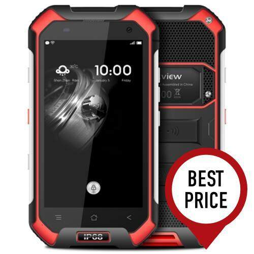 BLACKVIEW BV6000 4.7 INCH 4G SMARTPHONE ANDROID 7.0 MTK6755 OCTA CORE 2.0GHZ 3GB RAM 32GB ROM 5MP + 13MP CAMERAS IP68 WATERPROOF CORNING GORILLA GLASS 3 NFC (RED)