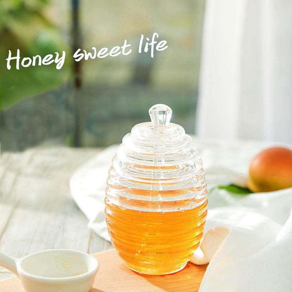 Price Leegoal Honey Jar High Grade Transparent Jam Bottle Glass Stirring Rod Honey Bees Crystal Glass Intl Leegoal China
