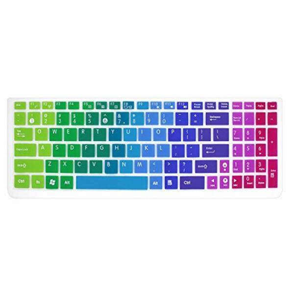 Silicone Keyboard Cover Skin for 15.6 inch ASUS GL552VW K501UX K501LX K501UW F554LA F555LA F555UA F556UA P2540UA GL502VS GL752VW UX501VW X540LA X550ZA Q503UA Q552UB X540SA R556LA N551JQ (Rainbow) - intl