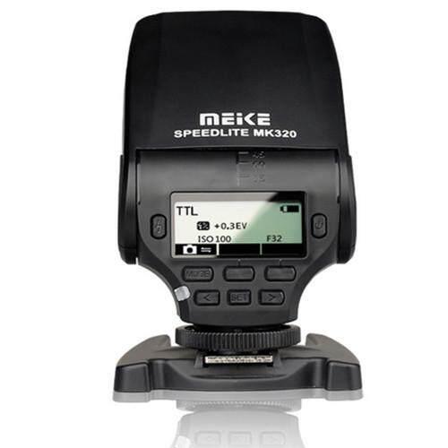 Meike MK-320 TTL Flash Speedlite untuk Sony A7 A7R A7S A7 II A77 II A6000 NEX-6 A58 A99 RX1 RX1R RX10 hitam