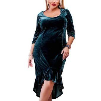 Pencari Harga Besar Ukuran 5XL 6XL Gain Beledu Wanita 2018 Gugur Musim Dingin Fashion Malam Putri Duyung atau Busana Asimetris Pesta Pakaian Ukuran Plus ...