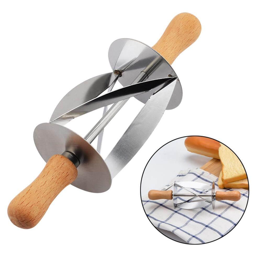 Pegangan Kayu Penggulung Pemotong untuk Membuat Roti Croissant Alat-Internasional