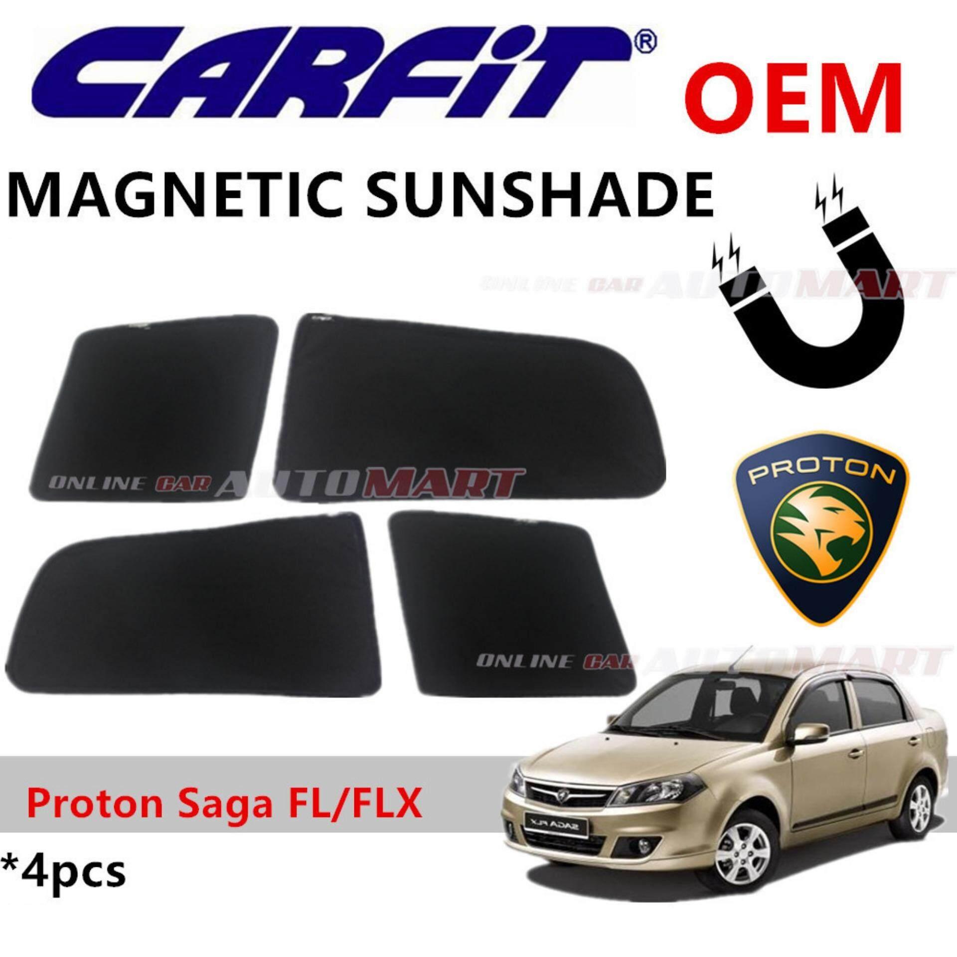 CARFIT OEM Magnetic Custom Fit Sunshade For Proton Saga FLX/FL(4pcs Sets)