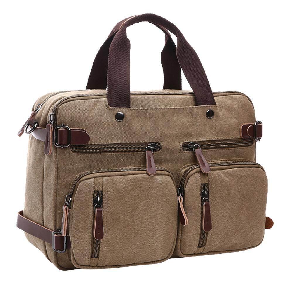 yydsop Laptop Backpack,Hybrid Multifunction Briefcase Messenger Bag With Shoulder Strap For Men,Women (Coffee) - intl