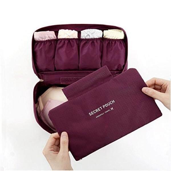 Vanki 1 Pcs Multi Functional Travel Organizer Storage Bag Bra Underwear  Pouch Cosmetic Make