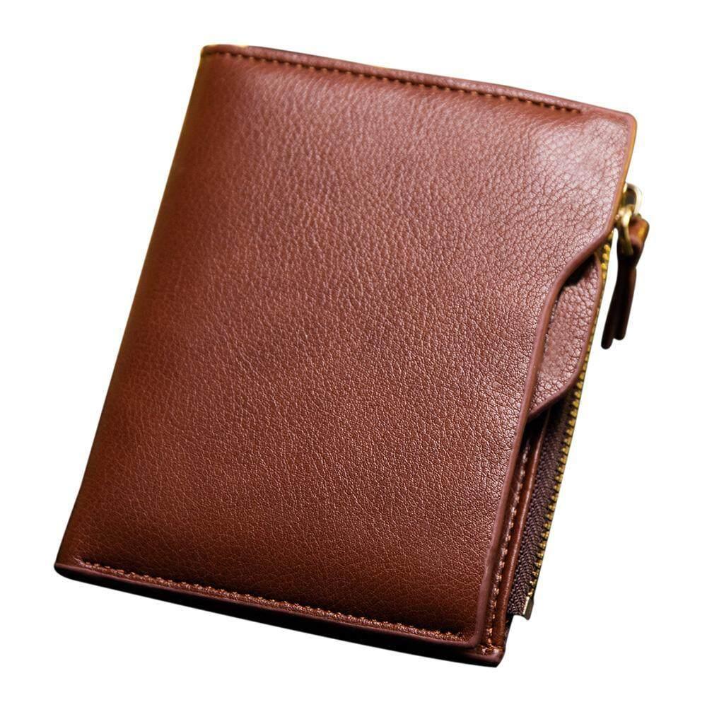 d07f3d683f6c WAWNHENG RFID Blocking Leather Bifold Men Wallet, Minimalist Slim Purse Zip Credit  Card Wallet with