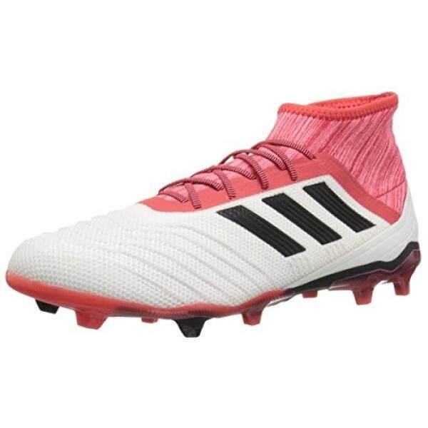 adidas Predator 18.2 FG Soccer Shoe, White/Core Black/Real Coral, US - intl