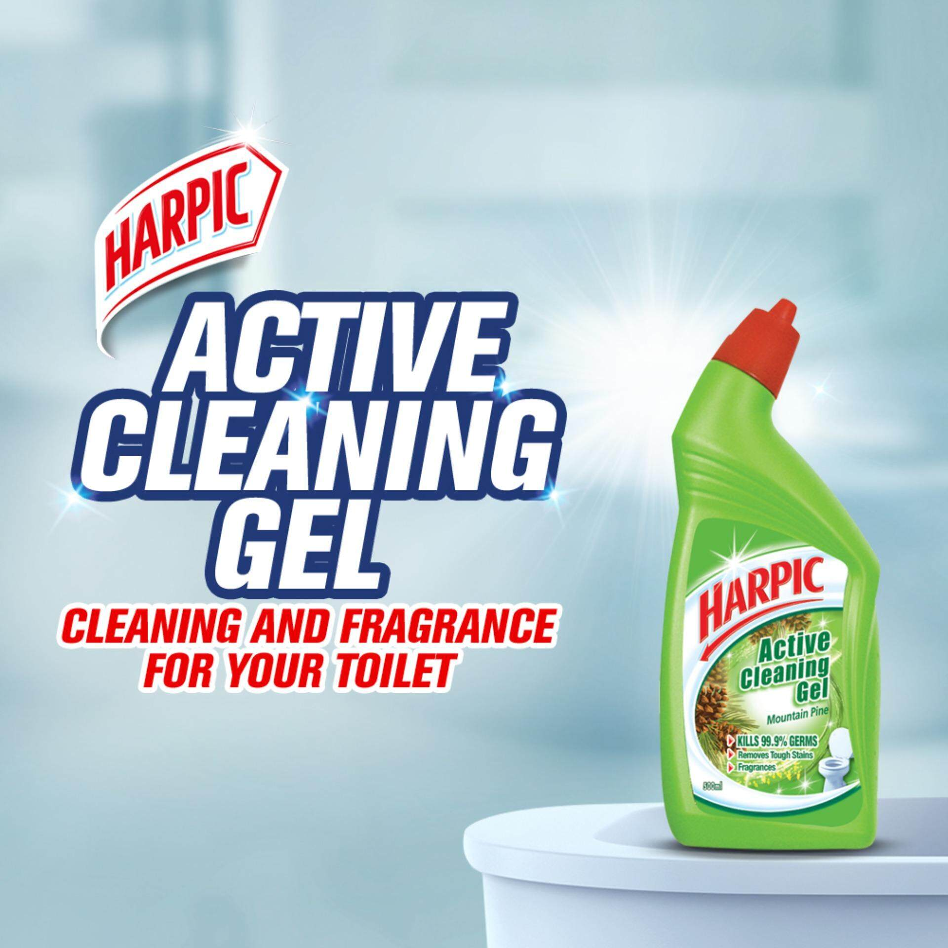 Seller Of Harpic Active Cleaning Gel Mountain Pine 500ml X2 Free
