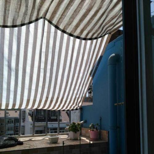 Sun Shade Sail Outdoor 70% UV Block Awning Canopy Mesh Net Shade Cloth Colour Strip 1.8X2m - intl