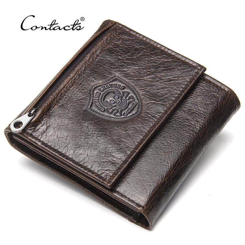 Men card holders buy men card holders at best price in malaysia contacts genuine leather men wallets new male short purse brand design money trifold clutch wallet with reheart Image collections