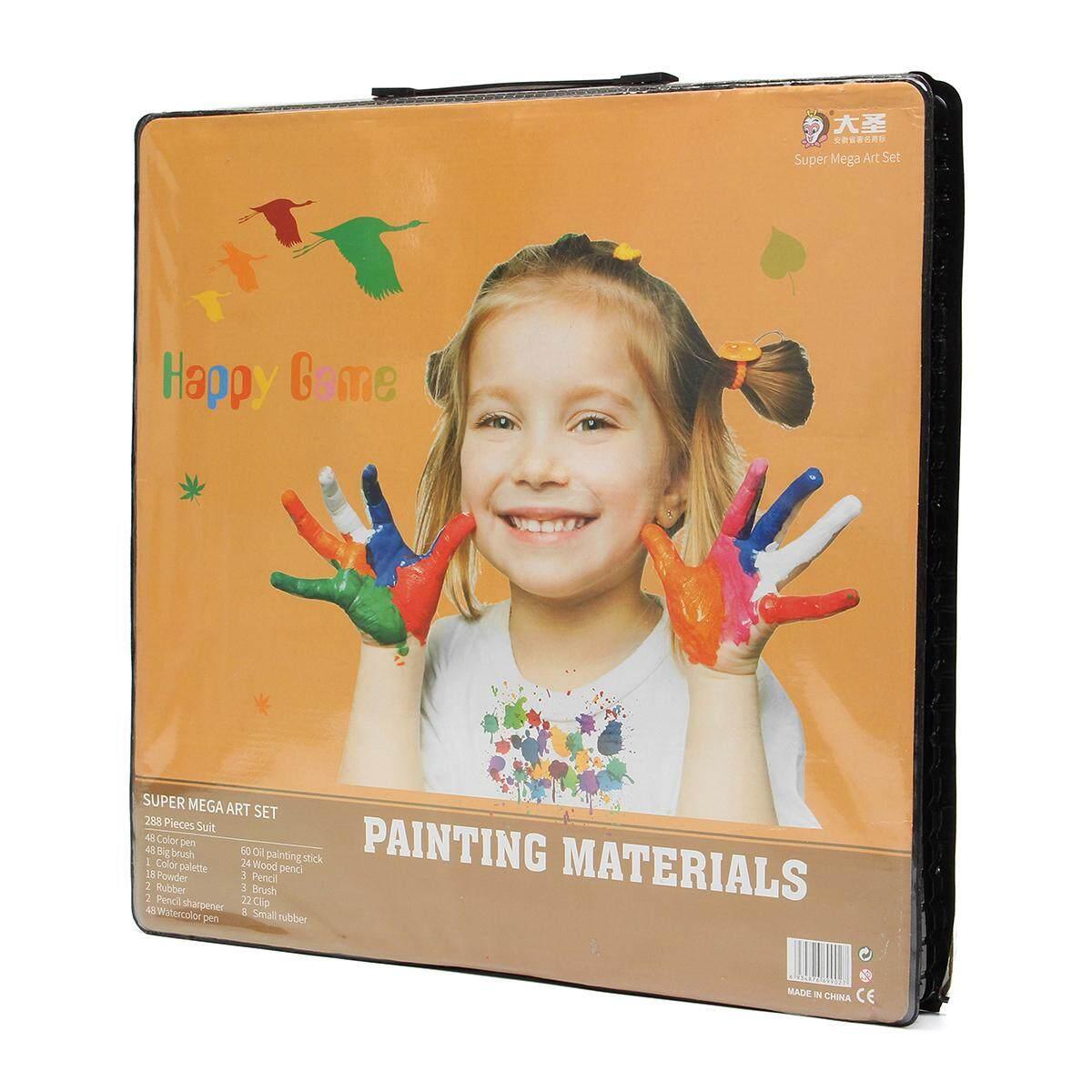 ... 288 Pcs Lengkap Cat Gambar Seni Perlengkapan Cat Air Cat Crayons Pensil Warna-Internasional ...