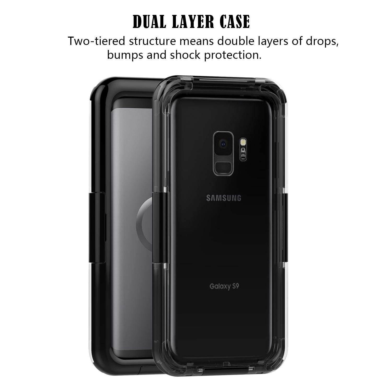 Moonmini Penuh Badan Di Bawah Air Anti-Air Anti Guncangan Tahan Debu Dirtproof Case Sarung Pelindung untuk Samsung Galaksi S9-Internasional